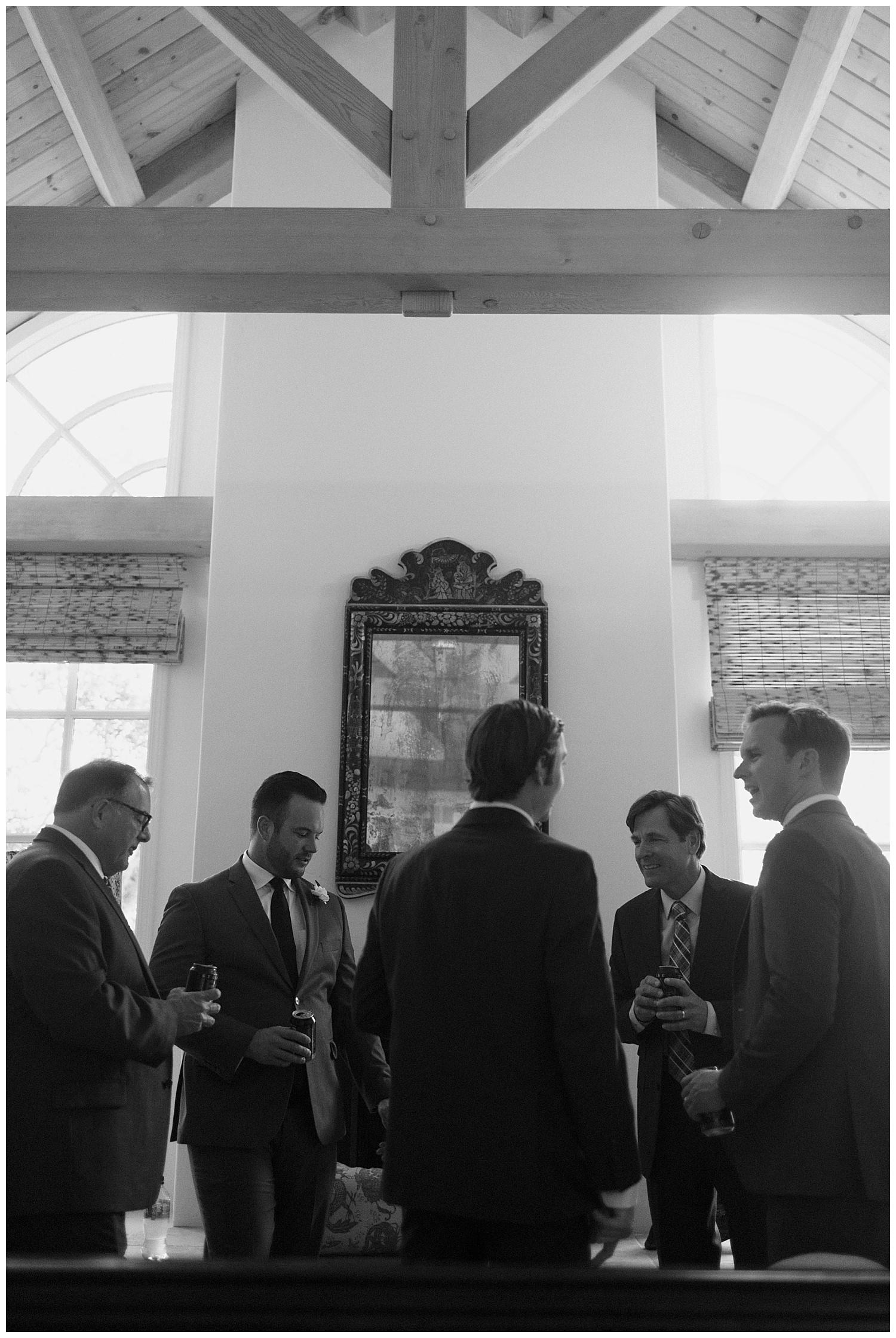 groomsmen having a drink before santa barbara winery wedding