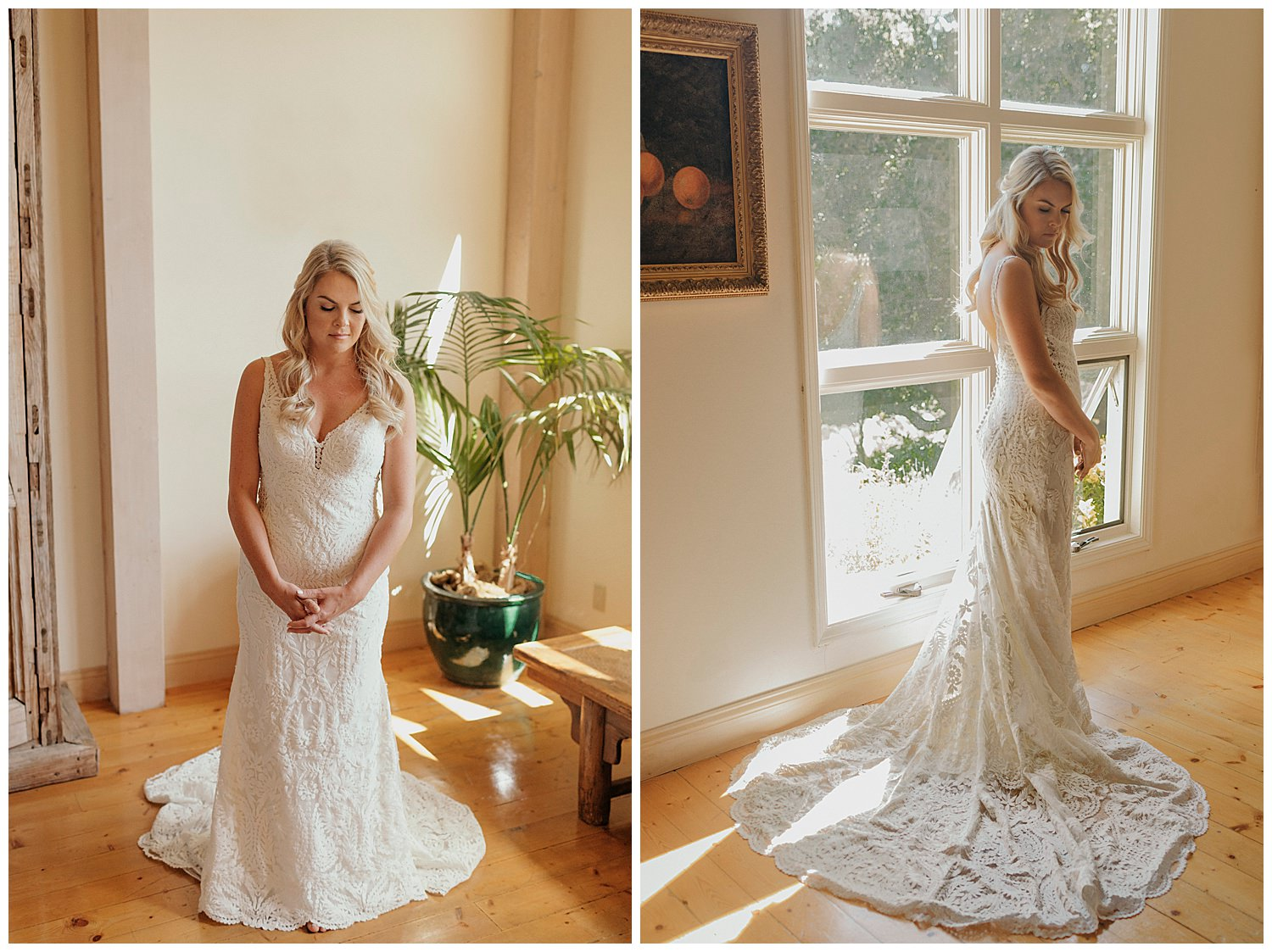 bridal pictures for santa barbara winery wedding