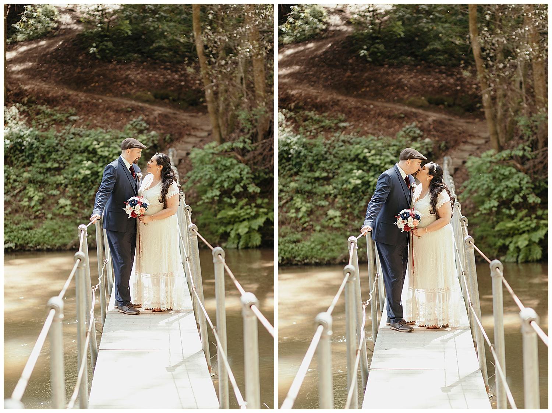 Bride and groom portraits in Henry Cowell redwoods wedding