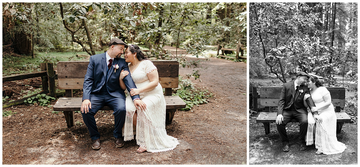 Bride and groom after Henry Cowell wedding