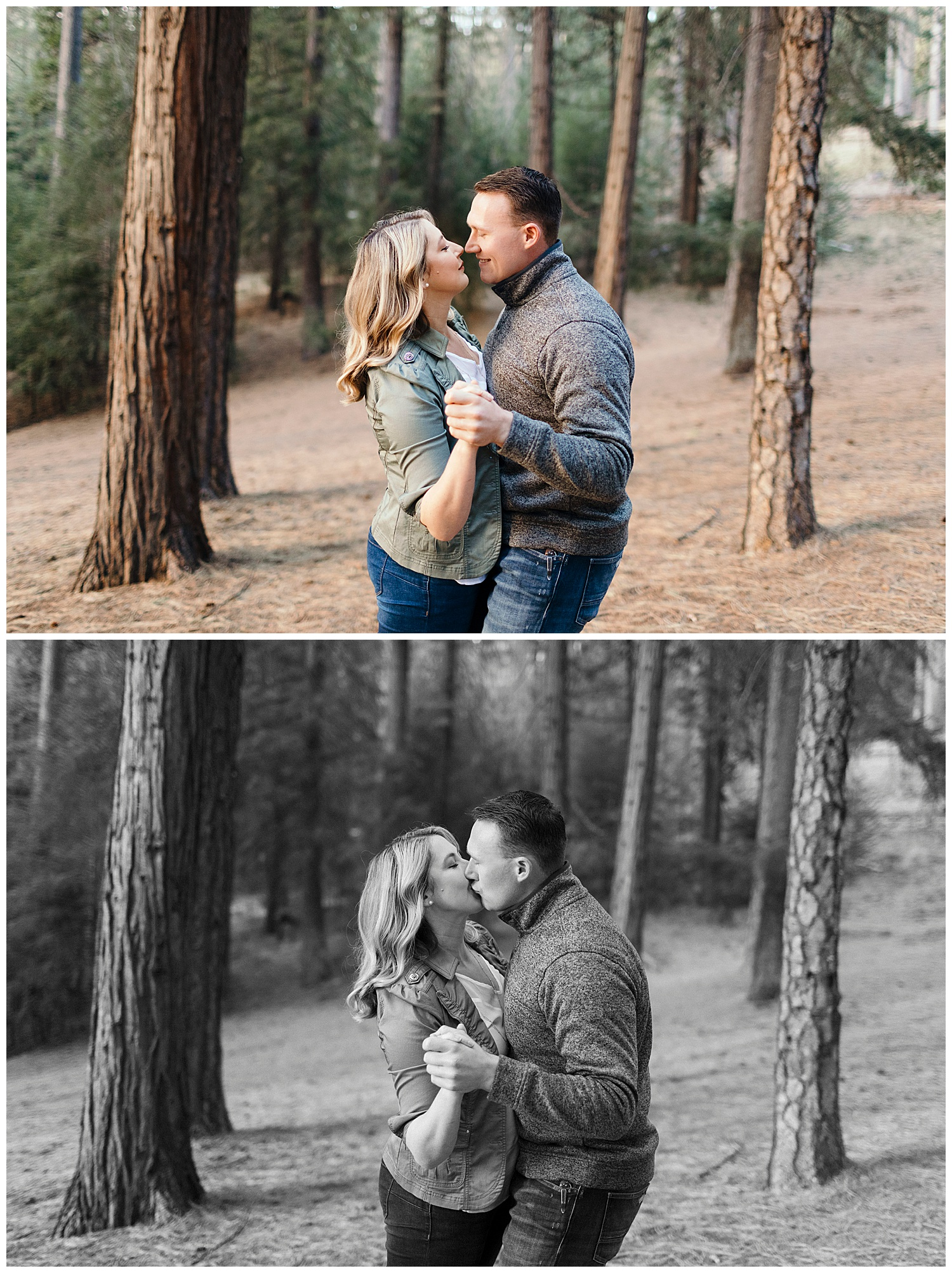 Sweet engagement photography in el dorado national forest