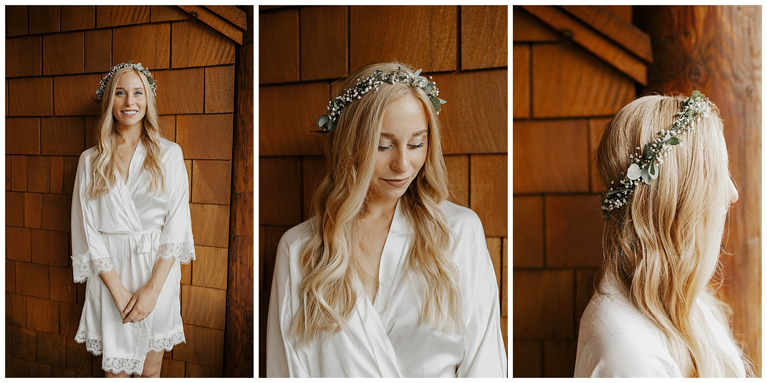 bride in squaw valley on her elopement day