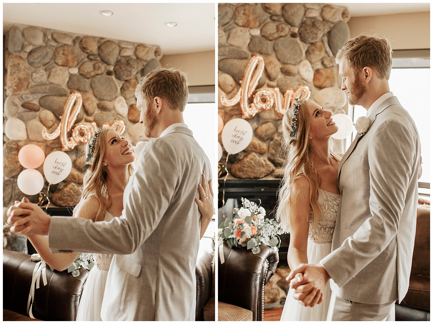 couple dances before their tahoe elopement